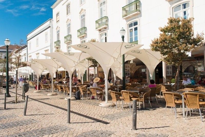 Café in Tavira, Portugal.