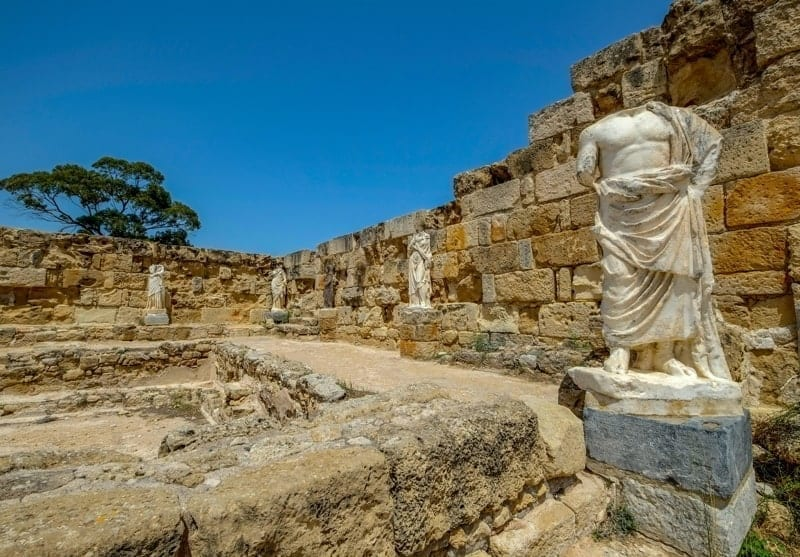 The ruins of Salamis in the Turksh Republic of Northern Cyprus