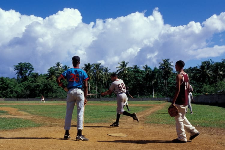 Kids playing baseball in the Dominican Republic