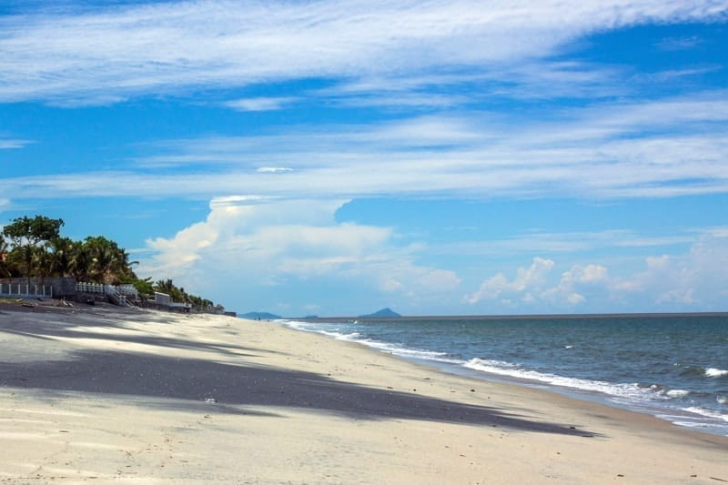 View of Gorgona Beach on the south coast of Panama.