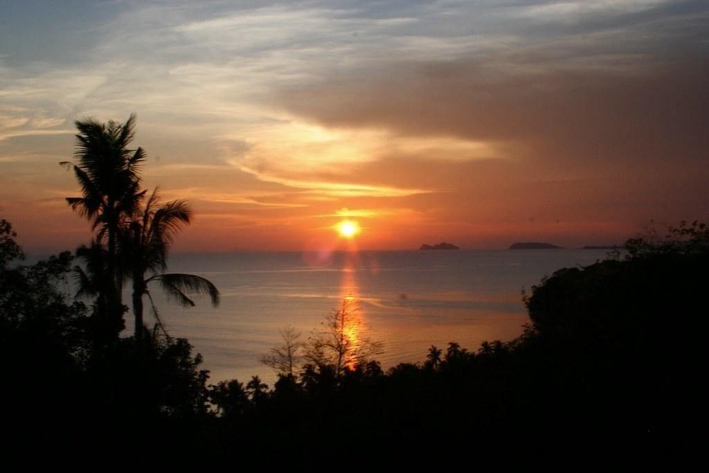Sunset in Koh Pha-Ngan island, Thailand