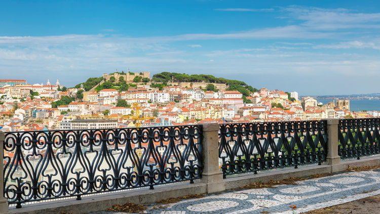 Lisbon City skyline.
