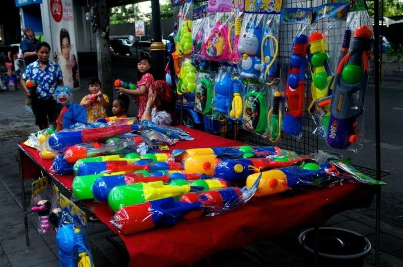 Songkran celebrations in Thailand