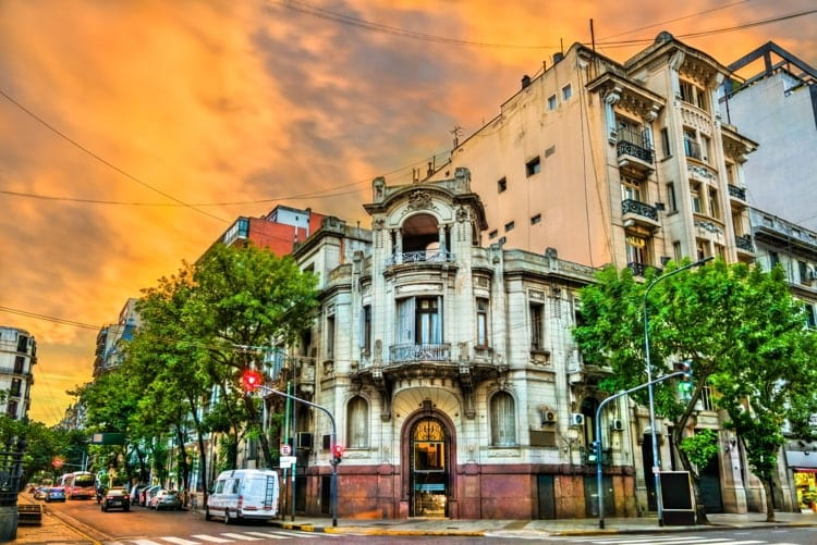 Sunset at Buenos Aires in Argentina