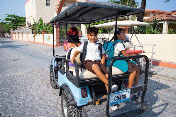 Kids going to school in Belize