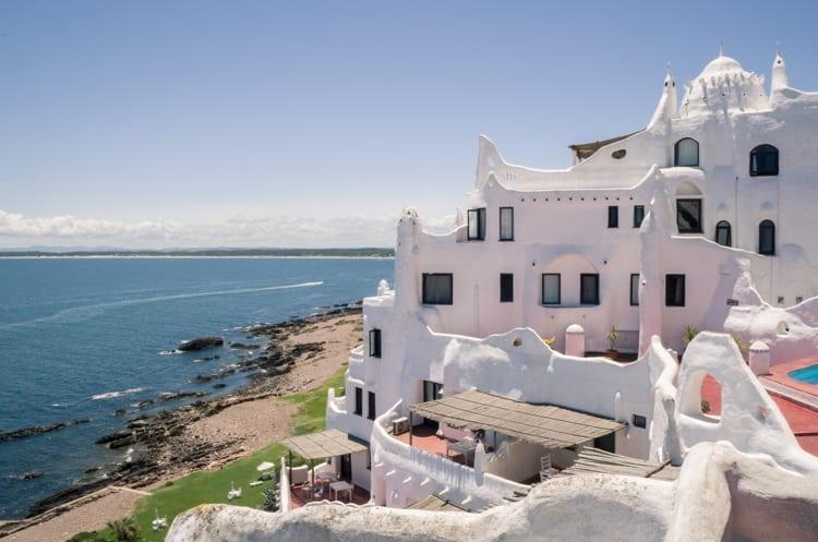 View of the sea from Punta Ballena, Punta del Este Uruguay
