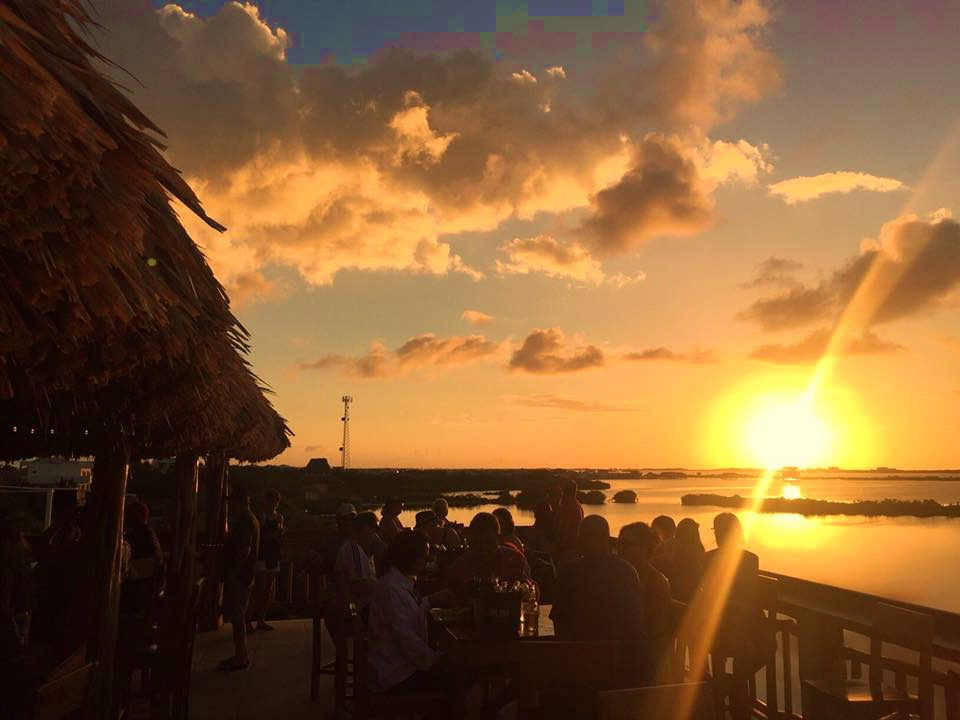 A sunset in Belize