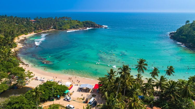 Surf beach Hiriketiya, Dikwella, Sri Lanka