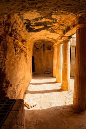 Archaeological park Tombs of the Kings in Paphos, Cyprus