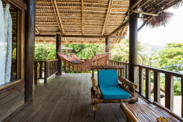 Luxurious suite balcony at Selva Azul Resort in Nicaragua