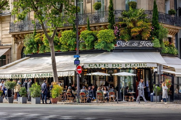 Day after lockdown due to covid-19 in a famous Parisian cafe