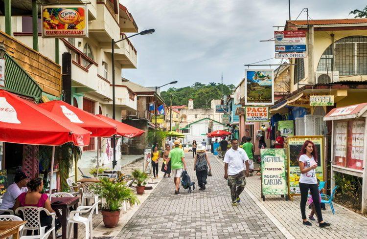 Burns Avenue in San Ignacio, Cayo District, Belize.