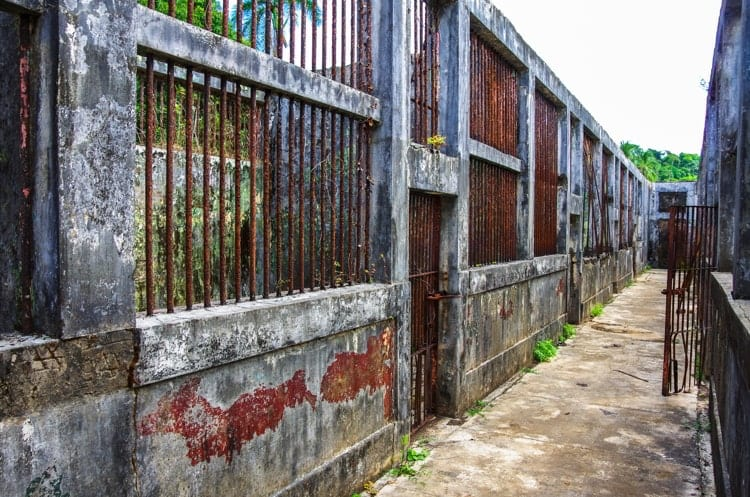The old prison in Coiba island, Panama