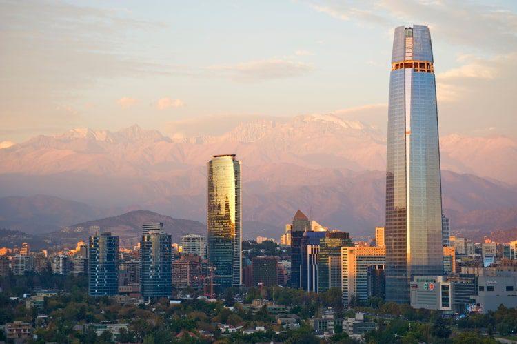 Skyline in Santiago, Chile