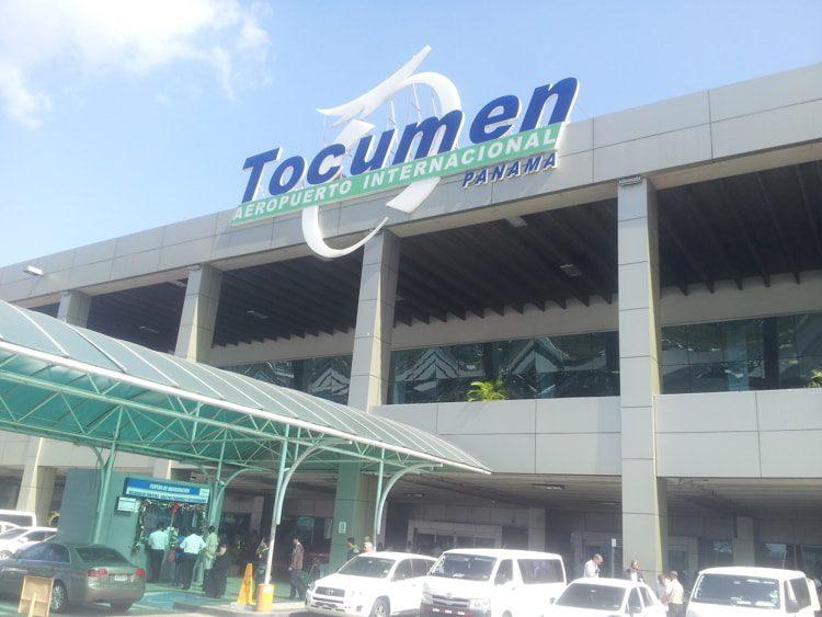 Tocumen International airport sign in Panama