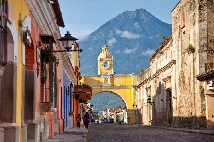 Antigua, Guatemala with Volcan Agua in the background