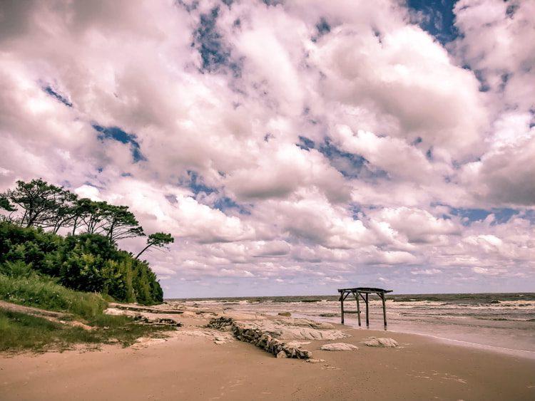 Scenic View Of Beach Against Sky in Atlántida, Uruguay