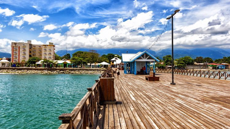 A port in La Ceiba, Honduras on a sunny day