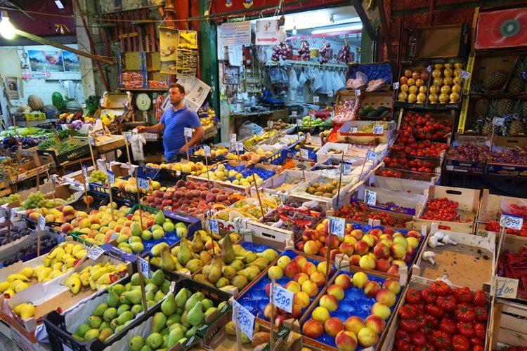 A market in Palermo, Sicily