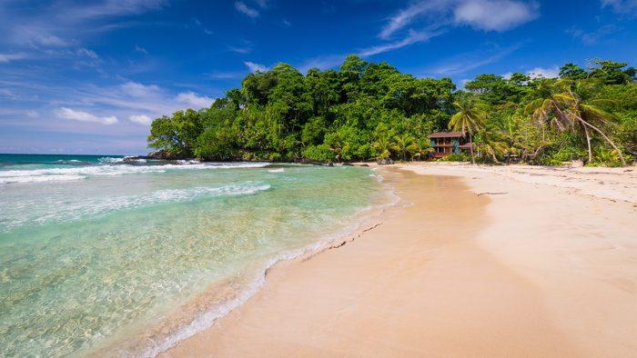 The beautiful Red Frog Beach, Bocas del Toro, Panama