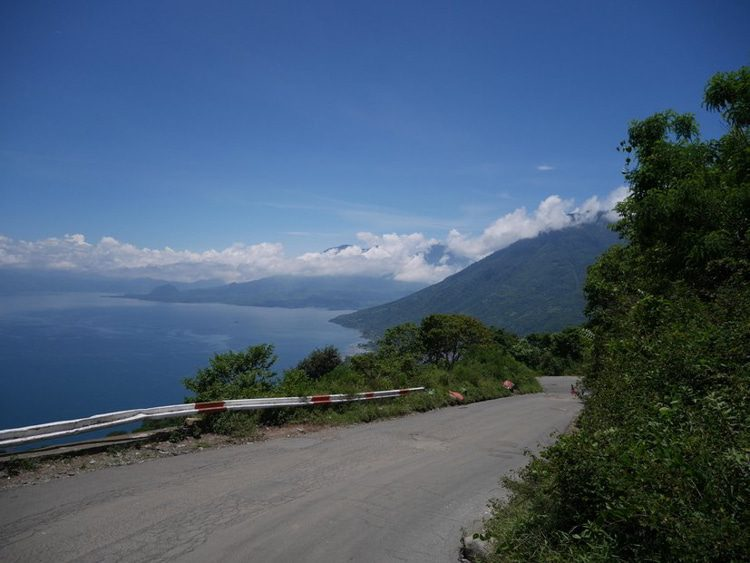 Asphalt roads in mountains and villages of Guatemala