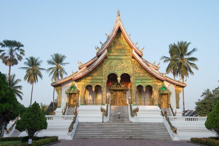 Buddist Temple of Haw Kham at the Luang Prabang National Museum
