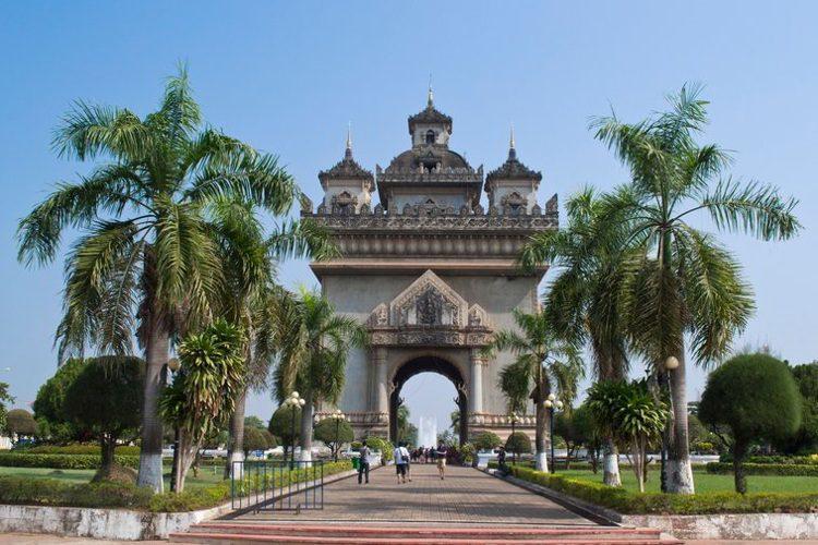 National monument in Vientiane, Laos