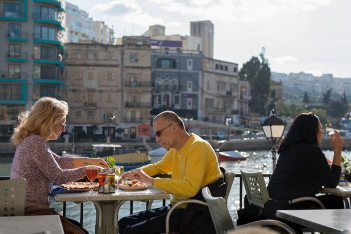 Cafes and restaurants in Malta