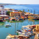 Kyrenia old harbour on the northern coast of Cyprus.