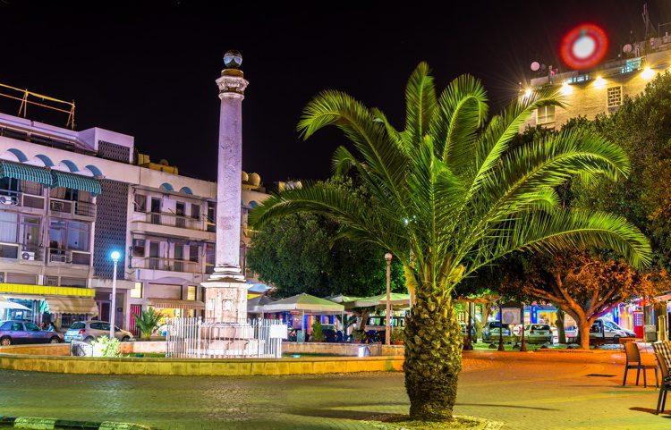Venetian Column on Ataturk Square in Nicosia, Northern Cyprus