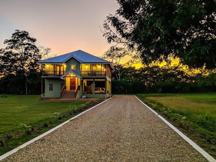 A beautiful house at Carmelita Garden during sunset