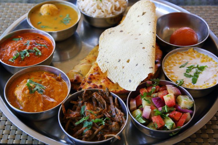 Indian rajasthani thali plate